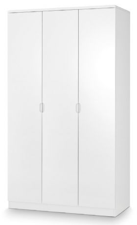 Manhattan White High Gloss 3 Door Wardrobe by Julian Bowen Sale Now on at Your Price Furniture